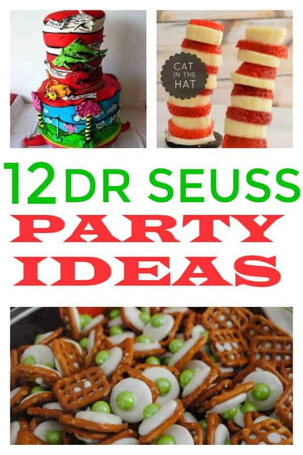 These Dr. Seuss ideas would be perfect for any party. There is everything from cakes to healthy snacks and more. #drseuss #drseusspartyideas #drseussparty