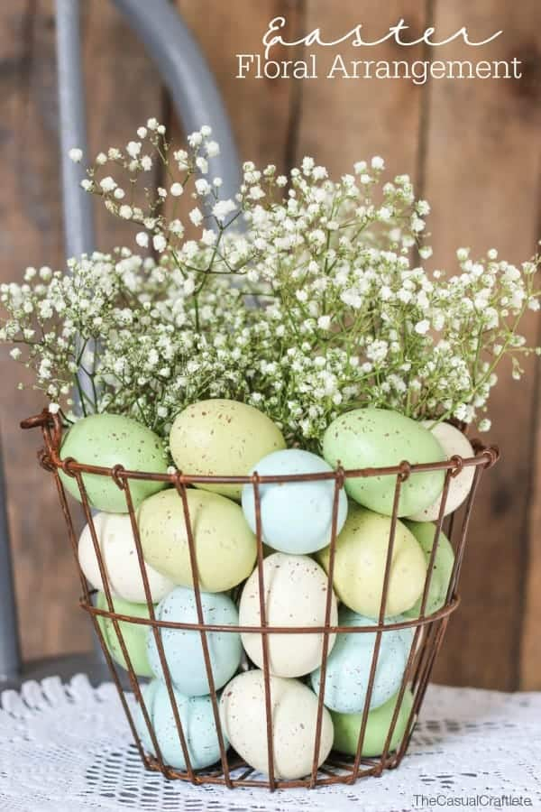 Simple Easter Tablescape Decor