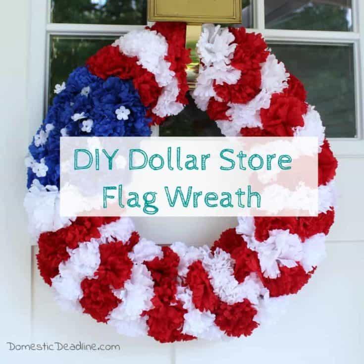 DIY Dollar Store Flag Wreath