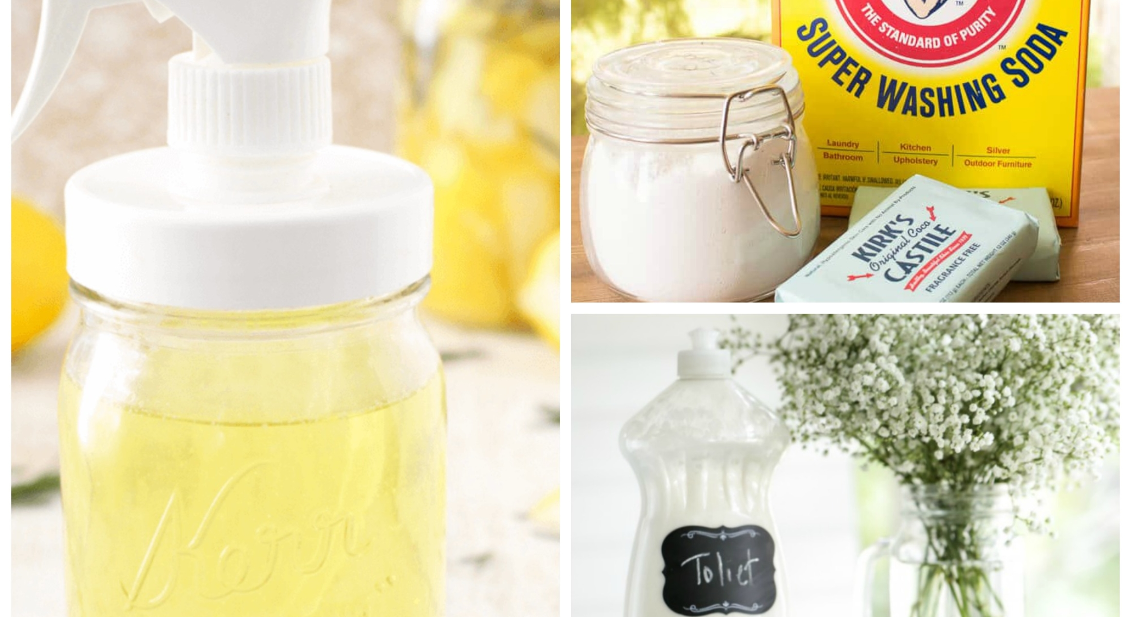 Natural Cleaner Collage