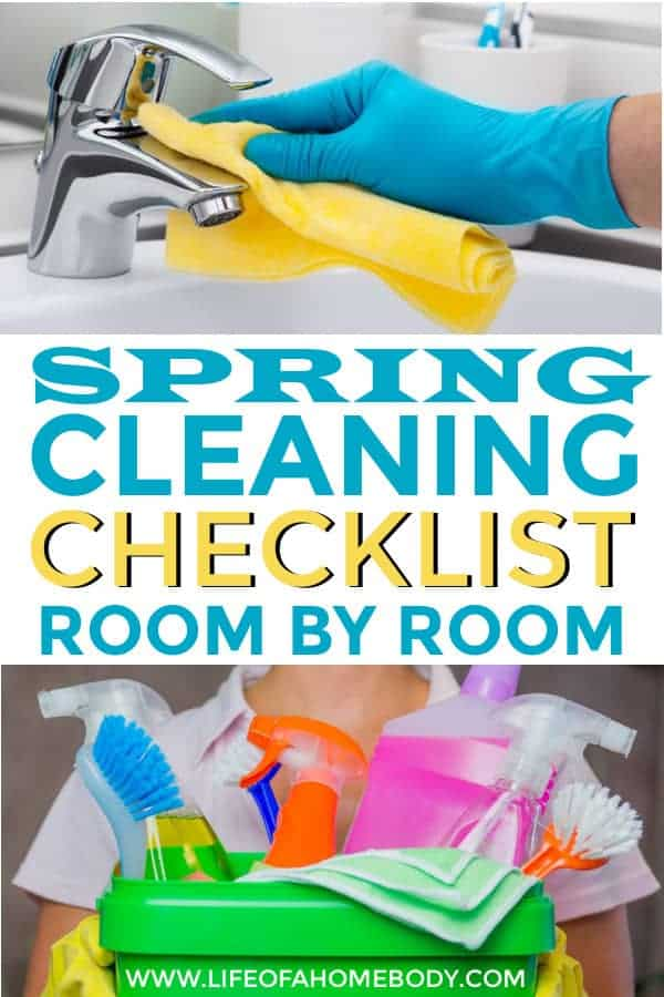I love this Spring Cleaning Checklist organized room by room! #springcleaning #springcleaningchecklist