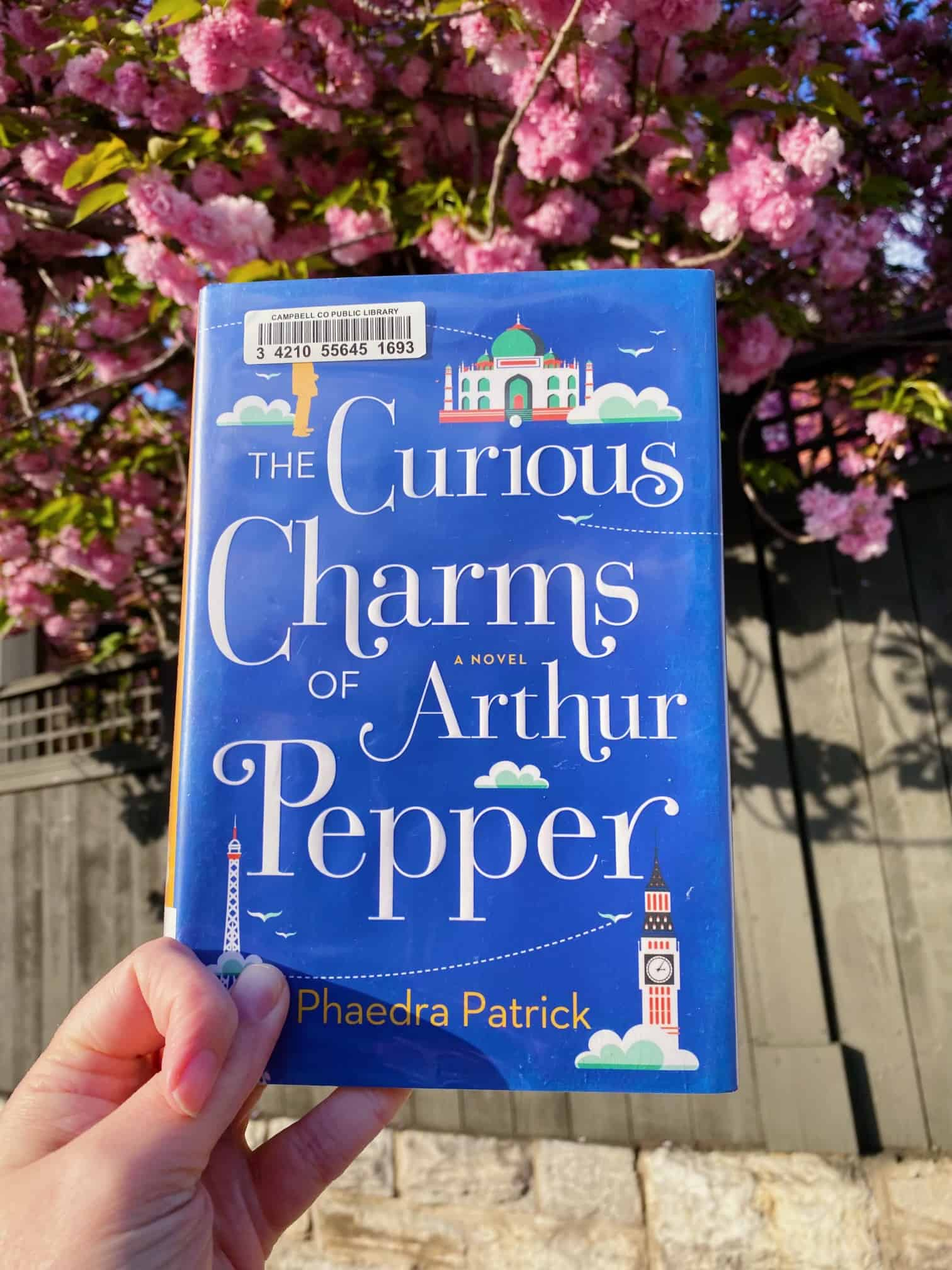 An image for a book review. Photograph of The Curious Charms of Arthur Pepper by Phaedra Patrick