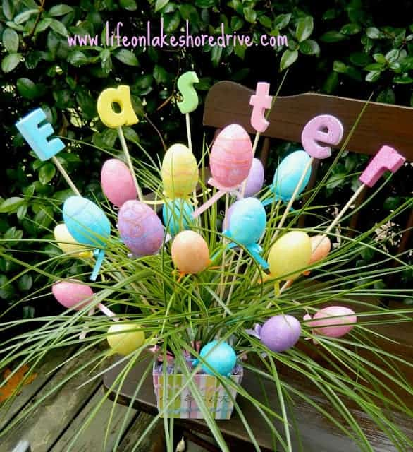 Easy DIY Dollar Store Easter Egg Centerpiece