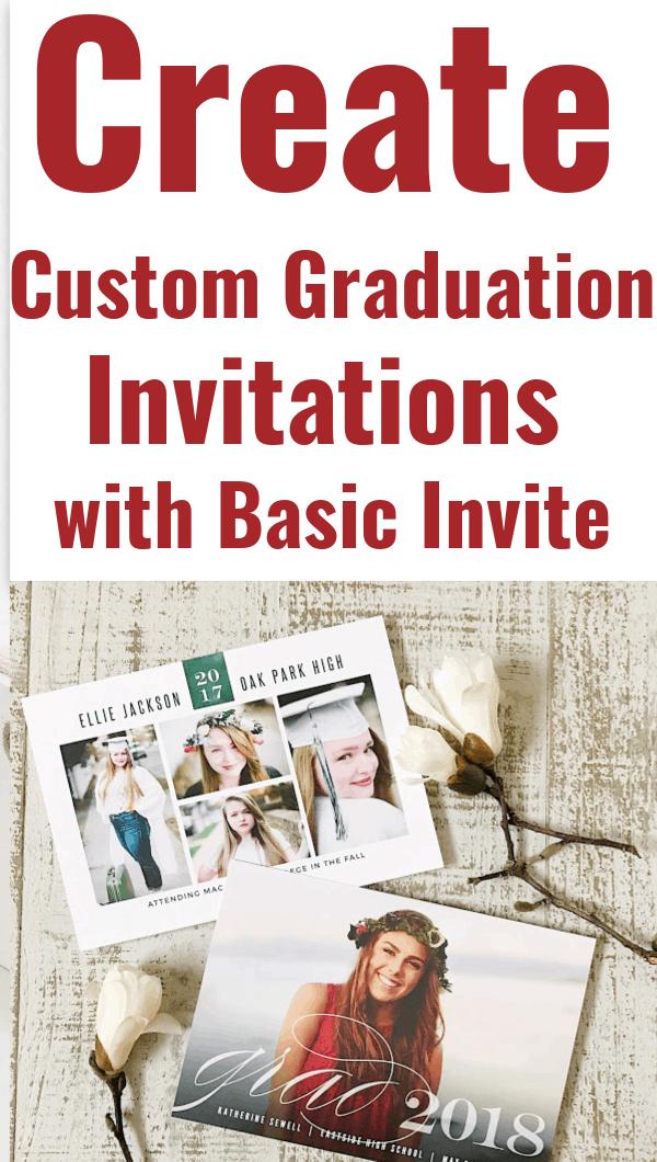 Basic Invite Custom Graduation Invitations