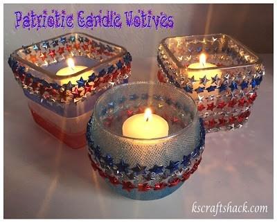 Patriotic Candle Votives